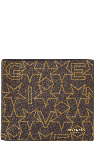Givenchy - Brown Logo Stars Wallet