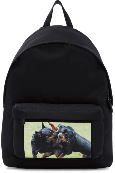 Givenchy - Black Rottweiler Fight Backpack