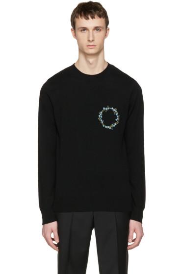 Givenchy - Black Cashmere Floral Crest Pullover
