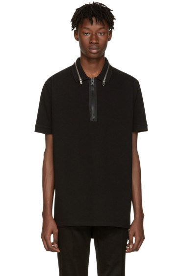Givenchy - Black Zip Collar Polo