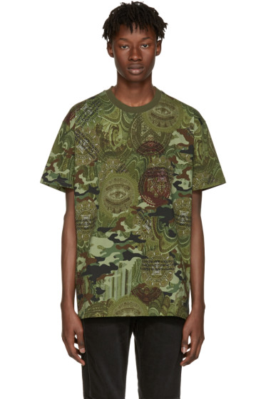 Givenchy - Green Camo Money T-Shirt