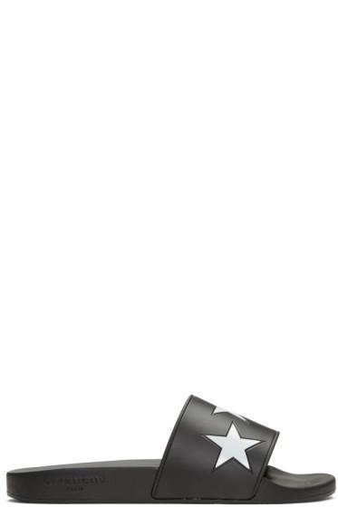 Givenchy - Black Star Slide Sandals