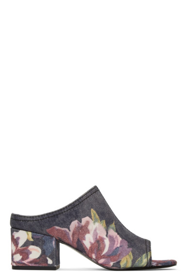 3.1 Phillip Lim - Blue Floral Cube Sandals