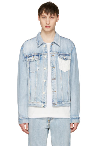 3.1 Phillip Lim - Indigo Denim Crochet Pocket Jacket