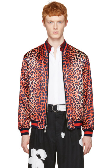 3.1 Phillip Lim - Reversible Orange Leopard Bomber Jacket