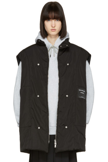 Raf Simons - Black Robert Mapplethorpe Edition Oversized Bodywarmer Self Portrait Vest