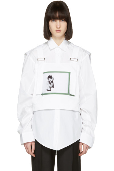 Raf Simons - White Robert Mapplethorpe Edition Self Portrait Dungaree Top