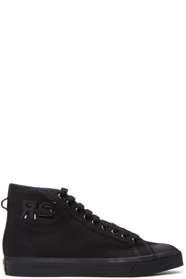 Raf Simons - Black adidas Originals Edition Spirit High-Top Sneakers