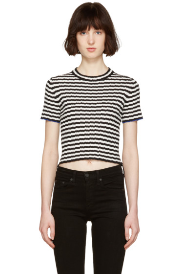 Proenza Schouler - Black & White Cropped T-Shirt
