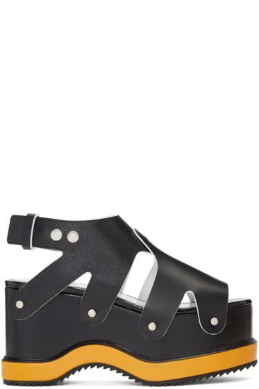 Proenza Schouler - Black & Orange Flatform Sandals