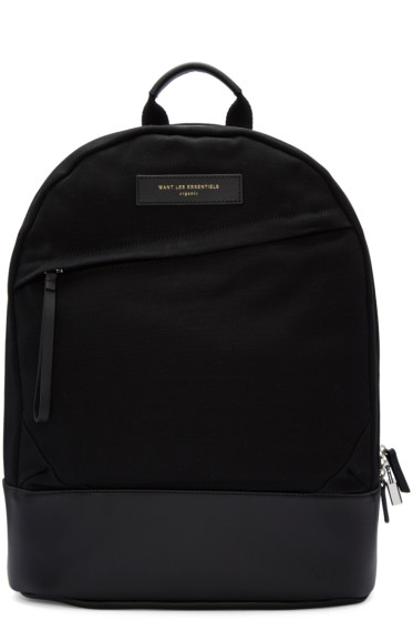 Want Les Essentiels - Black Canvas Kastrup Backpack