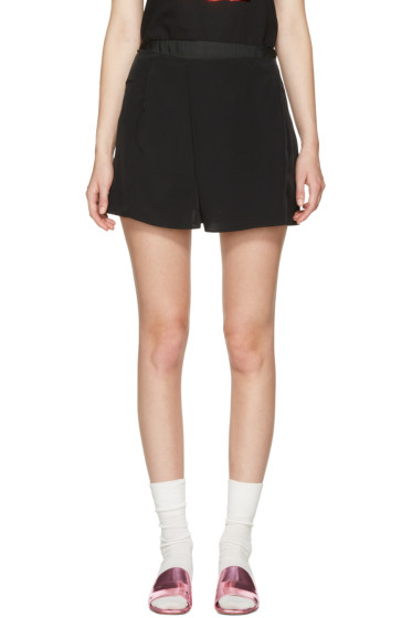 Carven - Black Fluid Shorts