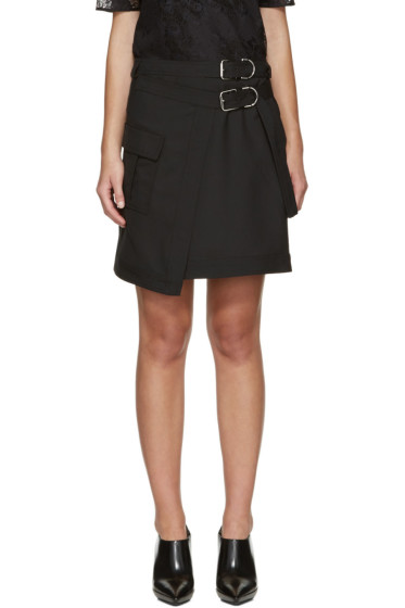 Carven - Black Asymmetric Pocket Miniskirt