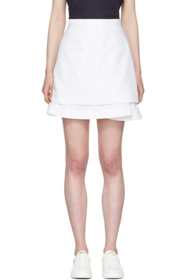 Carven - White Peplum Miniskirt
