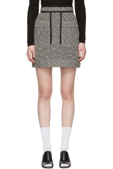 Carven - Black & White Jacquard Miniskirt