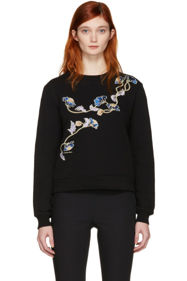 Carven - Black Floral Pullover