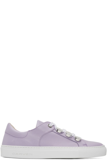 Carven - Purple Button Sneakers