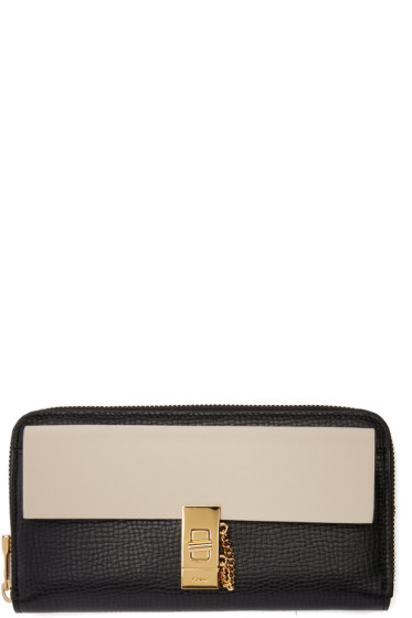 Chloé - Black & Off-White Drew Zip Wallet
