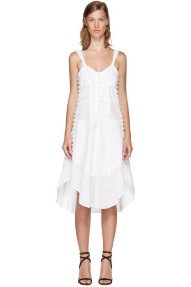 Chloé - White Sleeveless Button Dress