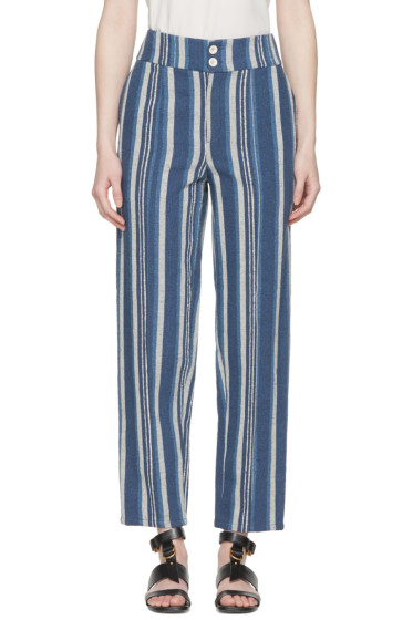 Chloé - Blue Striped Lounge Pants