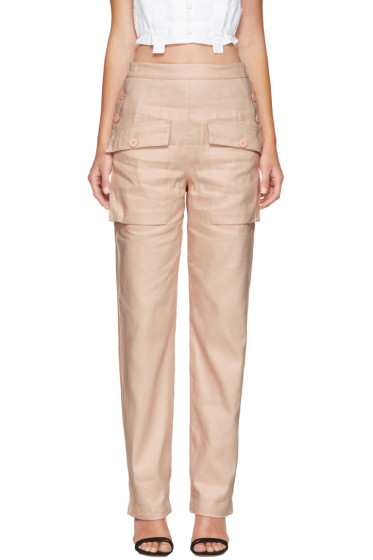 Chloé - Pink Cargo Pockets Trousers