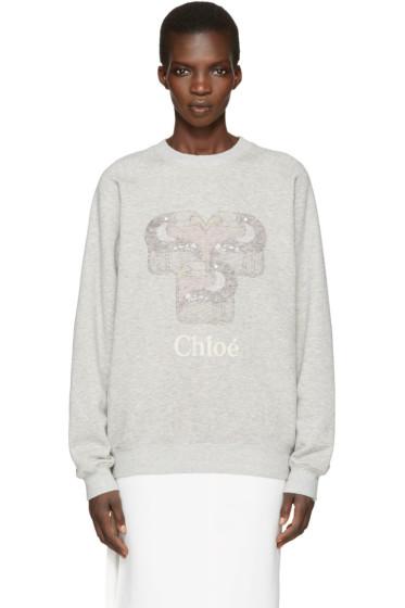 Chloé - Grey Toucan Logo Pullover