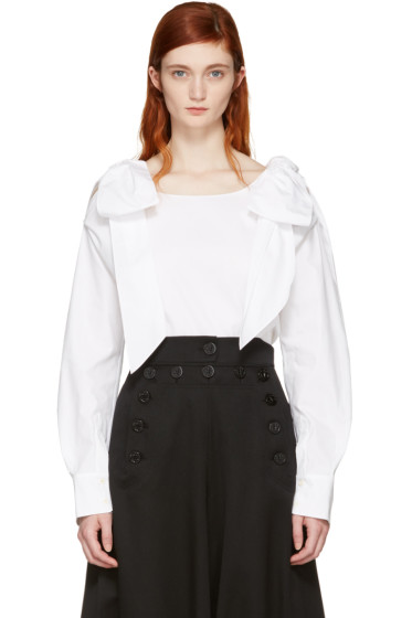Chloé - White Bow Blouse