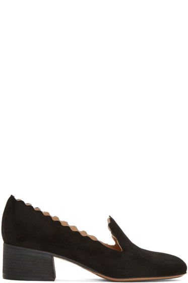 Chloé - Black Suede Lauren Loafers