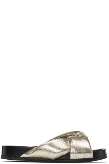 Chloé - Silver Nolan Slide Sandals