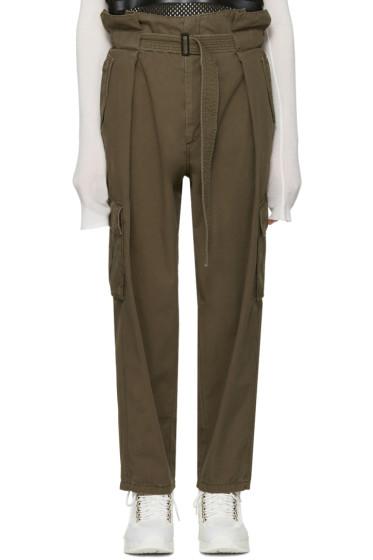 Juun.J - Khaki Belted Trousers
