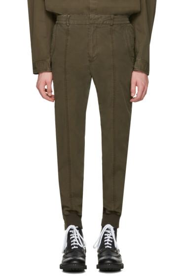 Juun.J - Khaki Side Zip Trousers