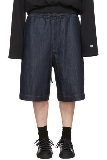 Juun.J - Blue Denim 'Covered In Mood' Shorts