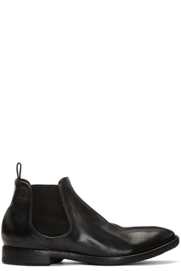 Officine Creative - Black Princeton Chelsea Boots