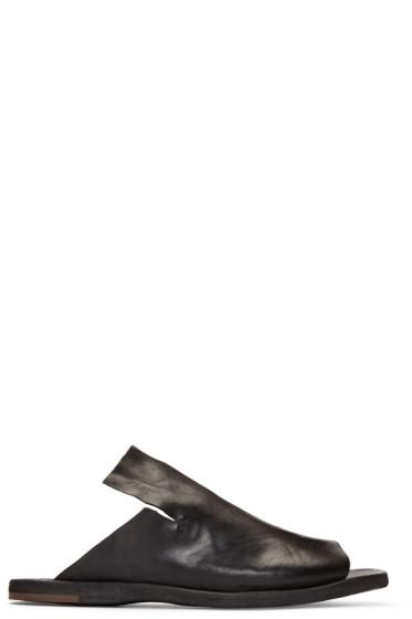 Officine Creative - Black Kimolos 1 Sandals