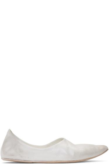 Marsèll - White Stuzzicadente Ballerina Flats
