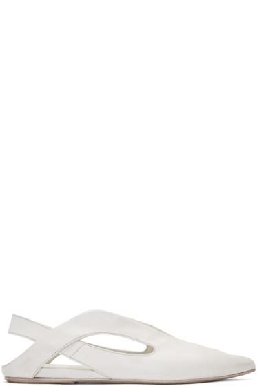Marsèll - White Open Heel Stuzzicadente Ballerina Flats