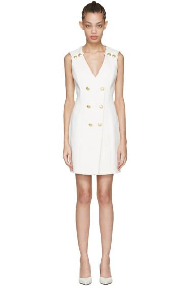 Pierre Balmain - Off-White Sleeveless Short Dress