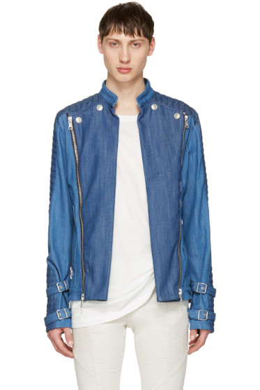 Pierre Balmain - Blue Denim Convertible Jacket