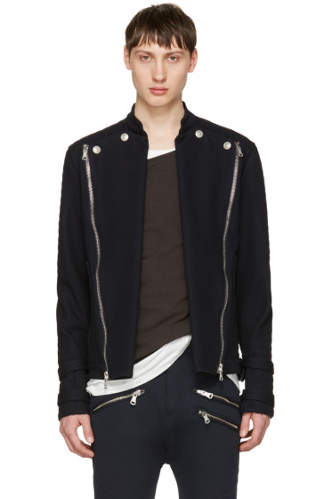 Pierre Balmain - Navy Convertible Jacket