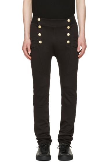 Pierre Balmain - Black Buttoned Lounge Pants