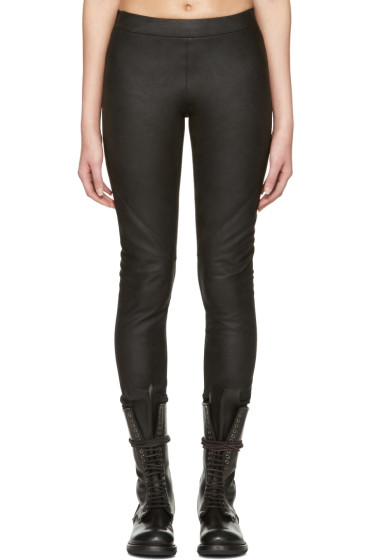 Gareth Pugh - Black Leather Pants