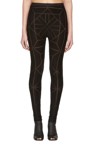 Gareth Pugh - Black Tile Leggings