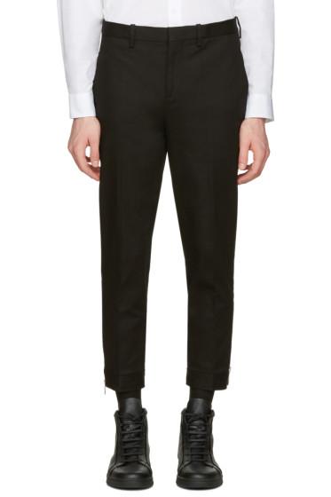 Neil Barrett - Black Cropped Zip Trousers