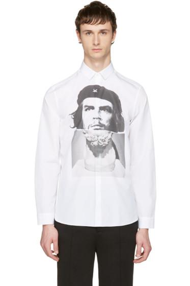 Neil Barrett - White Hybrid Marble Guevara Shirt