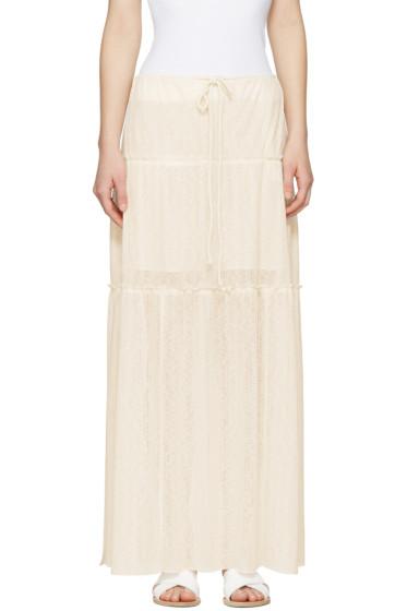 See by Chloé - White Long Gauze Skirt