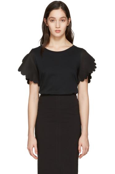 See by Chloé - Black Scallop T-Shirt
