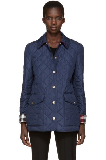 Burberry - Navy Quilted West Bridge Jacket