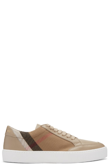 Burberry - Taupe Salmond Sneakers