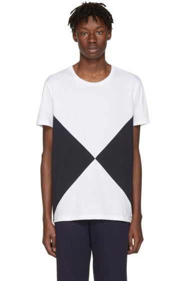 Burberry - White Fallow Flag Diamond T-Shirt
