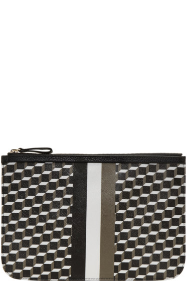Pierre Hardy - Tricolor Perspective Cube Zip Pouch